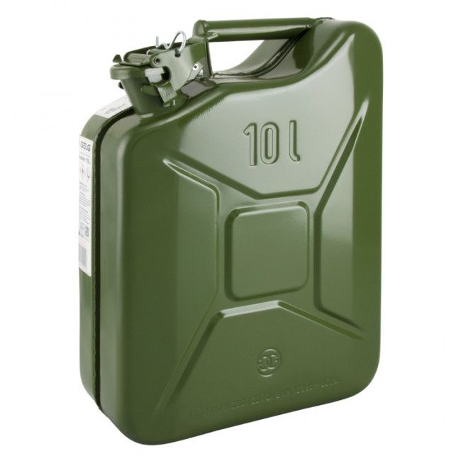 jerrycan brandstof 10ltr staal legergroen