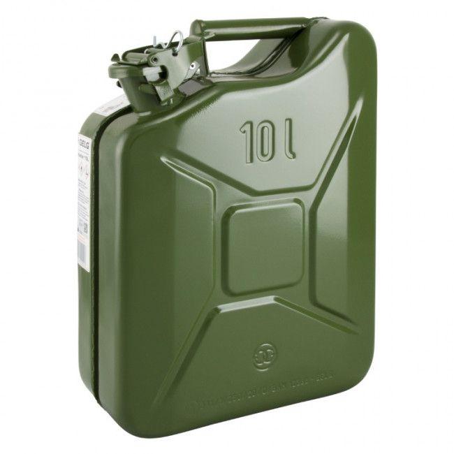 jerrycan petrol 10ltr steel army green