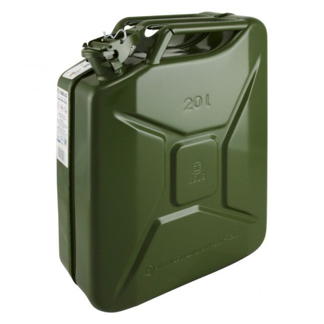 jerrycan petrol 20ltr steel army green