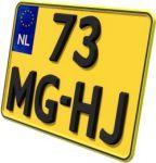Kentekenplaat motor geel EURO LUXE